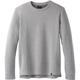 Prana Norcross Girocollo a manica lunga Uomo, heather grey